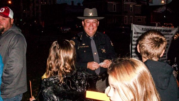 "Belmont County Sheriff Dave Lucas was on hands for Bellaire's ""Boo at the Park"" earlier this month."