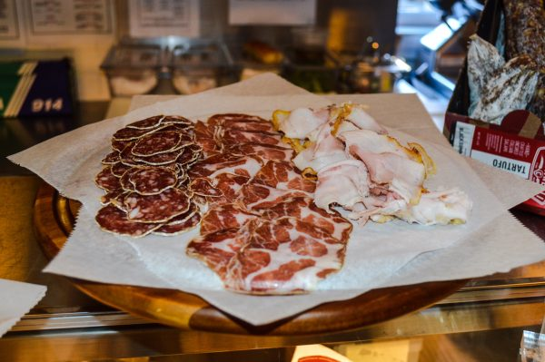 Charcuterie is now a big part of Cerrone's business, including Salametto, Coppa, and Porchetta meats.