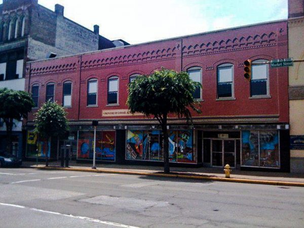 Lamar Advertising donated the vinyl that covered the front facade of the Murphy's building on Market Street.