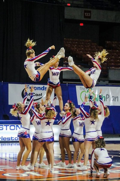 Pre-competition warmups did not go well but that's when senior leadership guided the Wheeling Park ladies to the 2015 title.