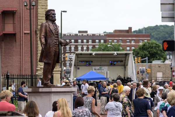 The Francis Pierpont statue was unveiled during the 2015 Wheeling Arts Fest.