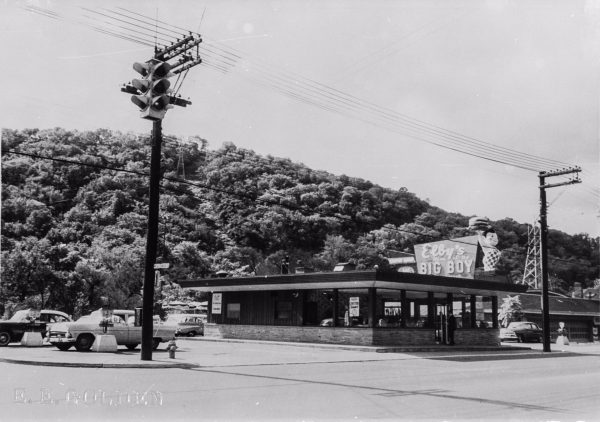 """No. 1"" - the very first Elby's Big Boy Restaurant was located along National Road near Linsly Military Institute."