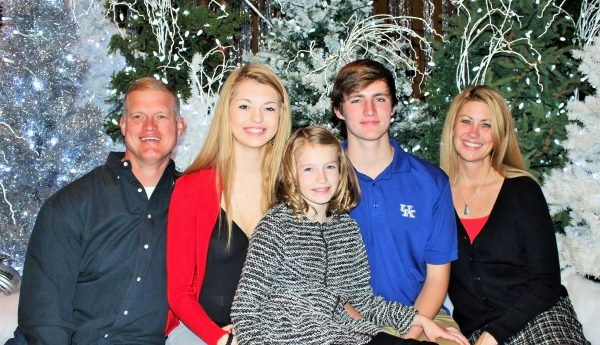 The Storch family posed for this family portrait during the holiday season.