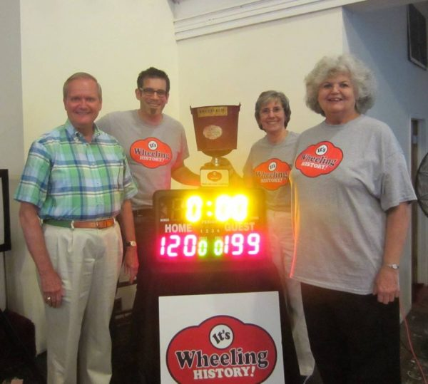 "The inaugural ""It's Wheeling History"" trivia champions, the Past Maters: Jay Frey, Hal Gorby, Jeanne Finstein and Kate Quinn."