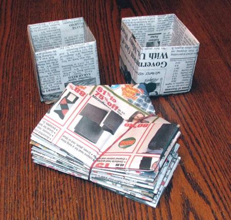 Newspaper Pots