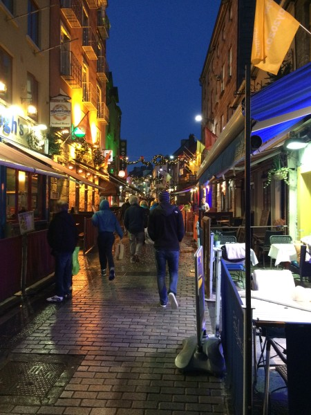 Derrick's little brother Josh walks along the Latin Quarter of Galway, Ireland in search of live music.