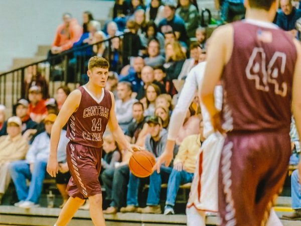 It's all about concentration and preparation for Wheeling Central's Chase Harler.