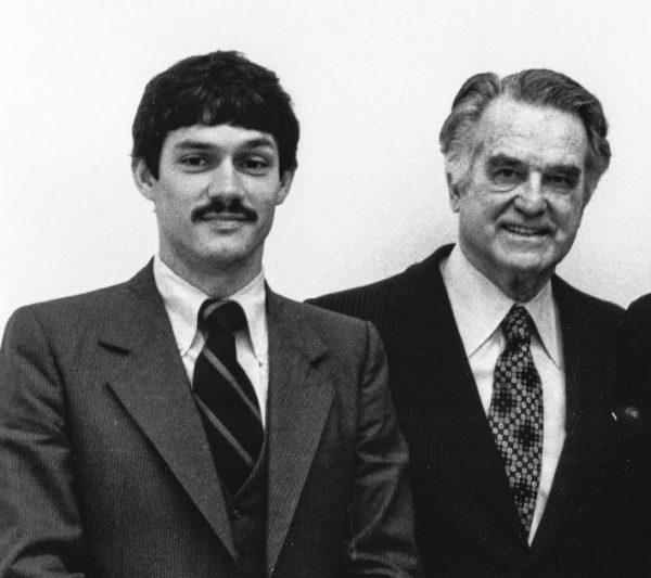For Wheeling City Manager Wayne Barte with U.S. Congressman Robert Mollohan.