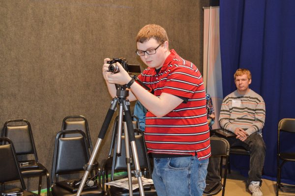 West Liberty University student Corey Knollinger was on hand to assist with the recording.