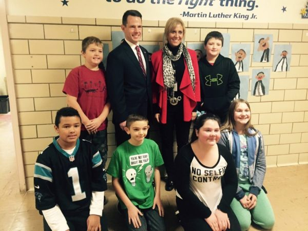 Ihlenfeld visited with Bethlehem Elementary School Principal Stacy Greer and her fifth-grade students last week.