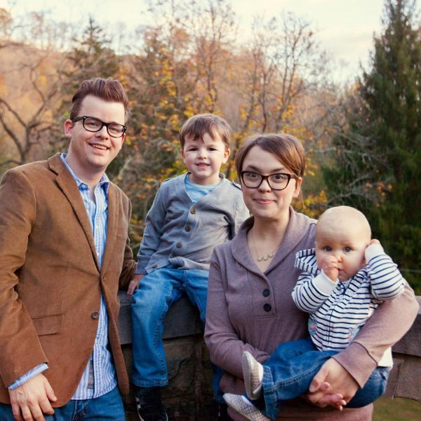 The Decker family - Sean, Gideon, his bride Bethany, and Greta. (Photo by Bennett McKinley)