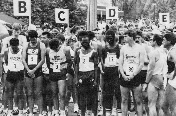 Michael Musyoki (No. 2) won the Elby's Distance Race three times.