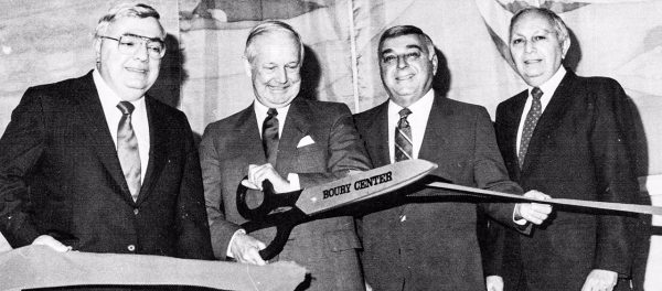 When the Boury Center opened in downtown Wheeling in the late 1980s, Gov. Arch Moore was on hand to cut the ceremonial ribbon.