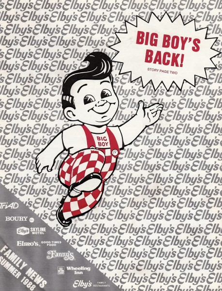After a two-year court battle with other franchises, the Big Boy double-deck return to the Elby's menu in 1988.