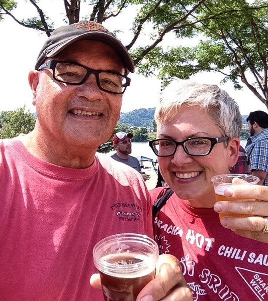 Bob Villamagna with his wife, Chris, at the 2015 Wheeling Brew Fest.