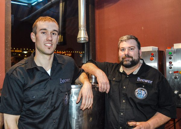 Brian Main and Jim Chaney are in charge of the brewing at the Wheeling Brewing Co.