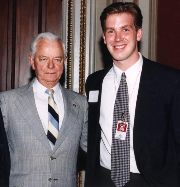 U.S. Sen. Robert C. Byrd hired Elliott as a legislative assistant in 1994.