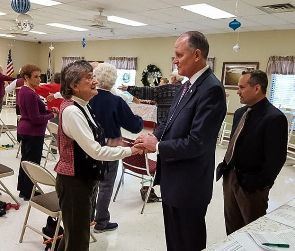 Kessler spoke with as many of the state's senior citizens as he could during his campaign.