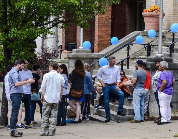 Elliott spent much time speaking with Wheeling residents while going to door-to-door and during rallies he staged in several neighborhoods in Wheeling.