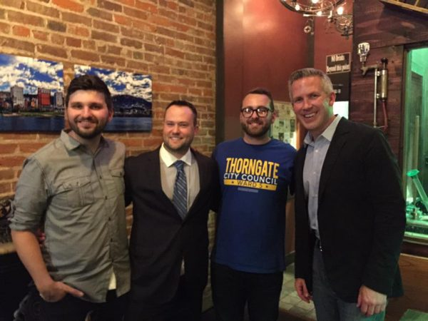 Thorngate joined a few other winners the evening of Wheeling's Election Day, including Brian Wilson (Ward 3), Chad Thalman (Ward 1), and Mayor-elect Glenn Elliott.