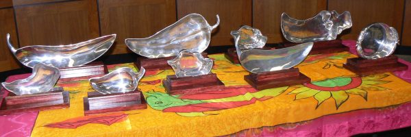 The awards bestowed to the winners each year.