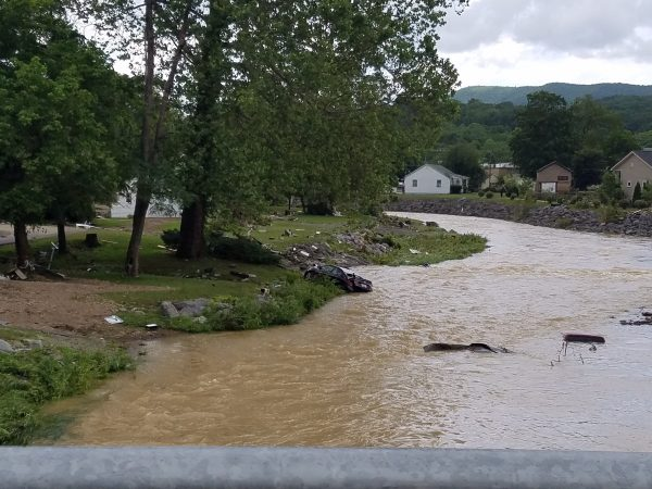 What were once silent creeks and streams in the White Sulphur Springs area raged with flood waters for nearly two days.