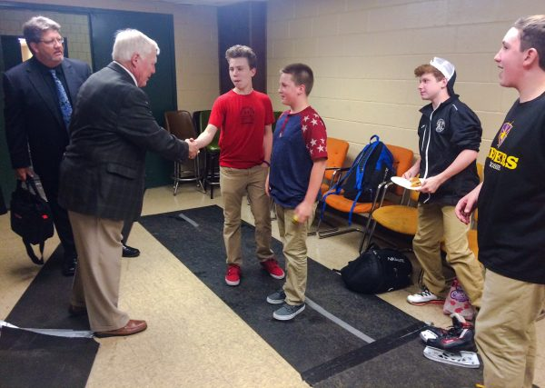 Mr. Kelly made the time during his time in Wheeling to meet several young Nailers fans.