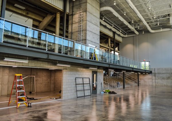 Magruder ex[ects the new lobby to be utilized for meetings, receptions, and banquets.