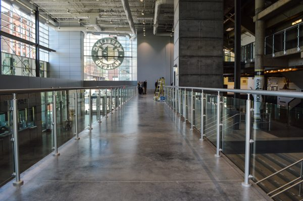 The new lobby features a raised walkway.