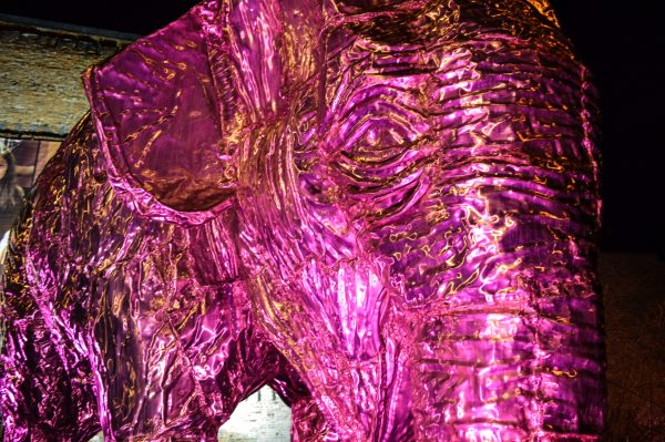 """""""Bobo"""" takes center stage at Heritage Port Park, and it was sculpted by Jeff Forrester and fostered by Susan Hogan."""