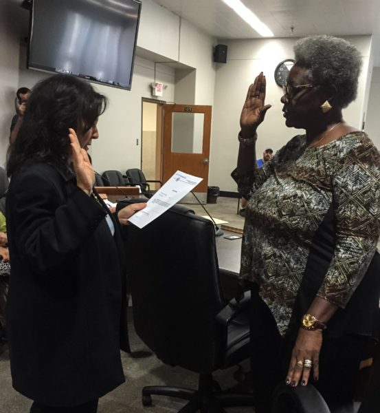 City Solicitor Rosemary Humway-Warmuth administered the oath this week so Nevels could be become the newest members of the Wheeling Human Rights Commission.