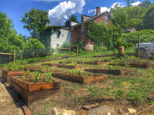 The North Wheeling Community Garden project was completed this past Saturday.