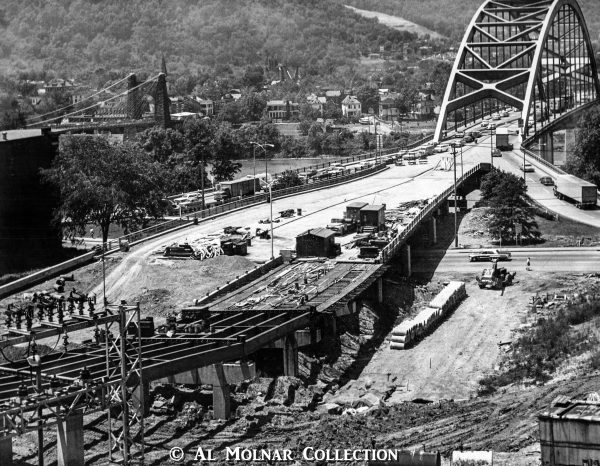 The Fort Henry Bridge, completed in the mid-1950s, was opened to traffic before the completion of Wheeling Tunnel.