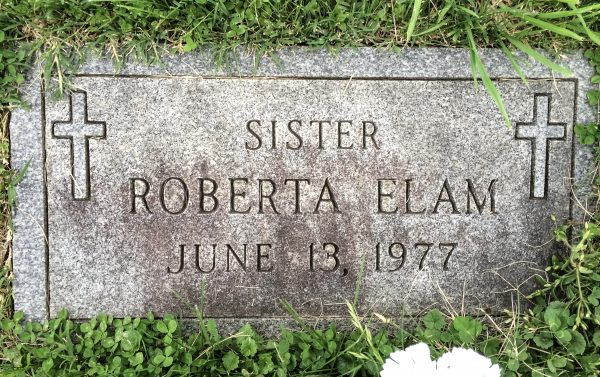 This humble grave stone is location in a special section of the Mount Calvary Cemetery.