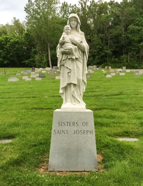 A section of the Mount Calvary Cemetery has been reserved for the burials of the Sisters of St. Joseph. Roberta Elam was interned in this area.