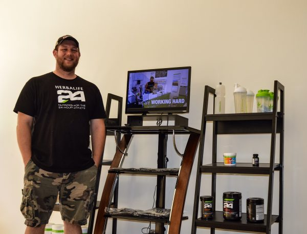 Tyler Eyerman's business also includes a retail side, too, as he offers Herbalife products.