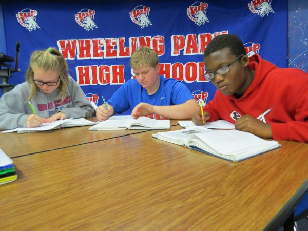 Students at Wheeling Park High have the chance to study together during each school day.