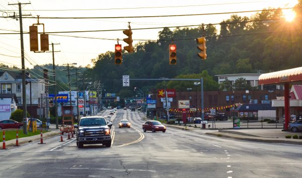 Work continues near the intersection of U.S. Route 40 and Bethany Pike in Woodsdale.