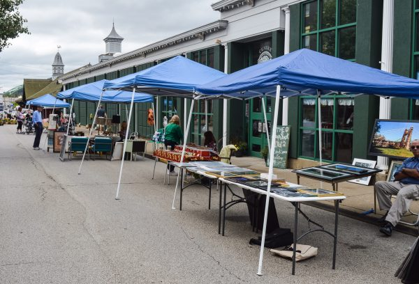 A wide variety of vendors have been on hand for the open markets during the first few weeks.
