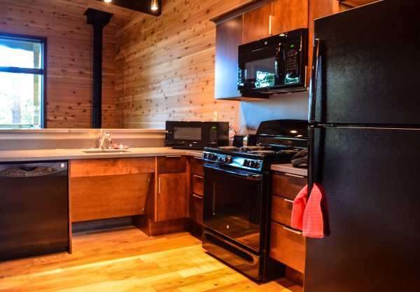 All the comforts of home have been installed inside the new cabins.
