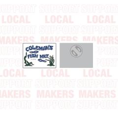 Coleman's Fish Market Logo Enamel Pin