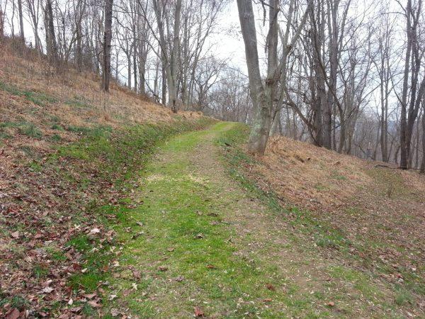 Part of Grand Vue Park's 4 mile loop.