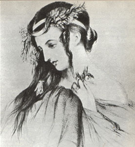 Harriet Smithson. Public domain image from Wikipedia.