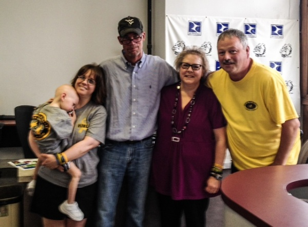 "The Rotriga family has visited local media outlets in Wheeling so they could issue, ""Thank Yous"" to the Upper Ohio Valley community on a number of occasions. This photo was taken after Hines and his mother, Debbie (on left) appeared on the Watchdog Network (AM 1600 WKKX and AM 1370 WVLY) with yours truly and Laura and Dave Rotriga."