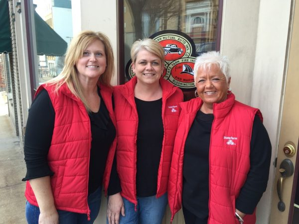 Office team members Lynn Doughty, Connie Mirides, and Sheila Jackson.