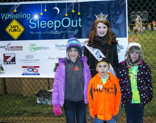 Last year, three of the top five fundraisers were kids under the age of 10. Pictured above, Rumer Beazel, 2014 Miss West Virginia Paige Madden, Finn Loy and Jenna Jackson
