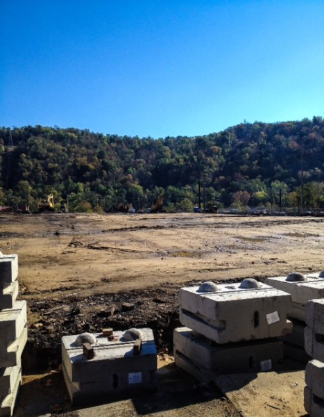 The demolition of 32 structures in a two-bock area of East Wheeling were completed in 2012 by employees of Edgco Inc., of Lansing, Ohio.