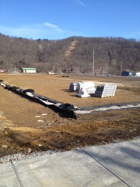 The James White Construction Co., of Weirton, leveled the areas for the field, playground, and basketball court.