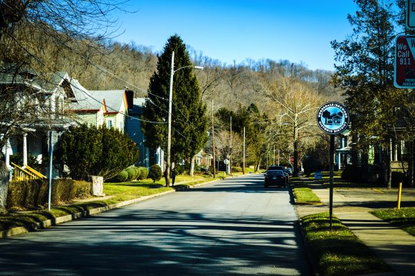 Edgwood Street is a primary throug-way in Woodsdale, one of several Wheeling neighborhoods that have been designated as historical districts.