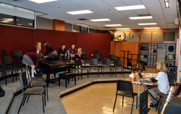 CCHS students are benefiting from the new, terraced music room.